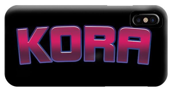 Kora iPhone Case - Kora #kora by Tinto Designs