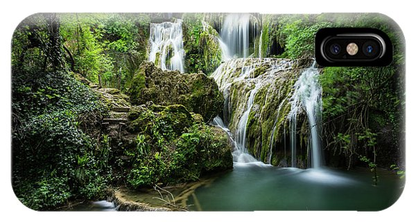 IPhone Case featuring the photograph Krushunski Waterfalls by Milan Ljubisavljevic