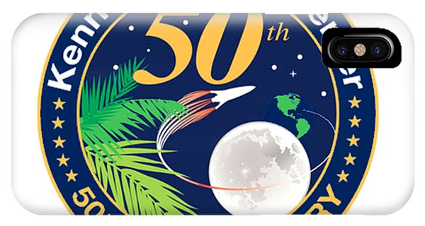 Kennedy Space Center iPhone Case - Ksc's 50th Anniversary by Nikki