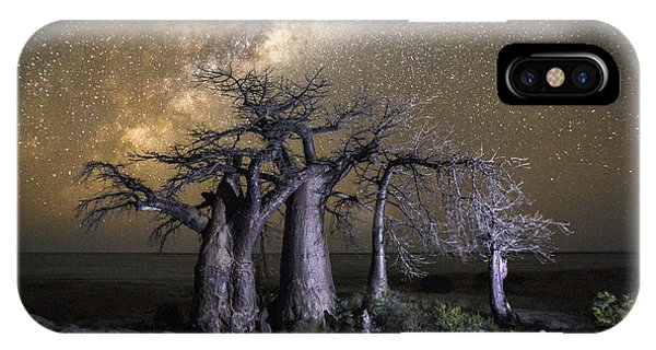 Dusk iPhone Case - Kubu Island In Botswana by 2630ben
