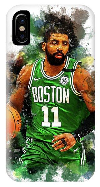 Kyrie Irving iPhone Case - Kyrie Irving Boston Celtics Nba Player by Afrio Adistira