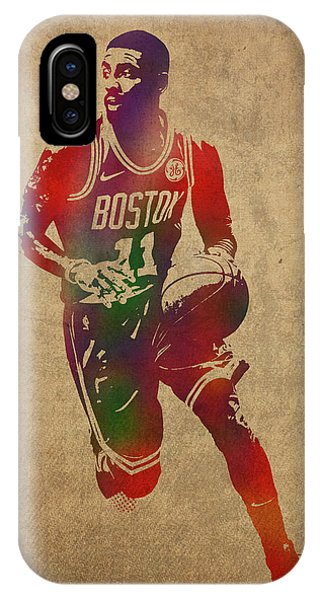 Kyrie Irving iPhone Case - Kyrie Irving Watercolor Portrait by Design Turnpike