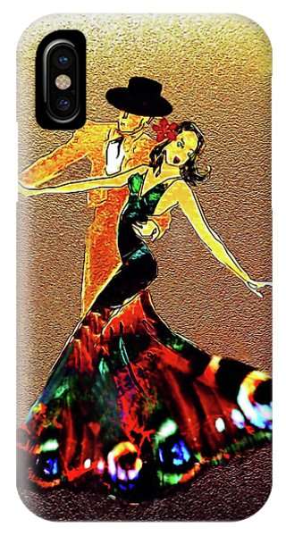 IPhone Case featuring the painting La Fiesta by Valerie Anne Kelly