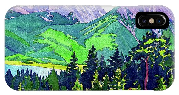 IPhone Case featuring the painting La Plata Peak by Dan Miller