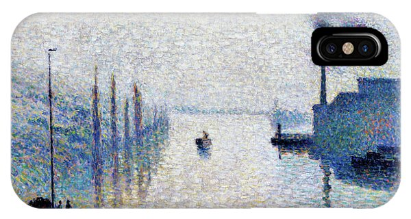 Smoke Fantasy iPhone Case - Lacroix Island, Rouen  - Digital Remastered Edition by Camille Pissarro