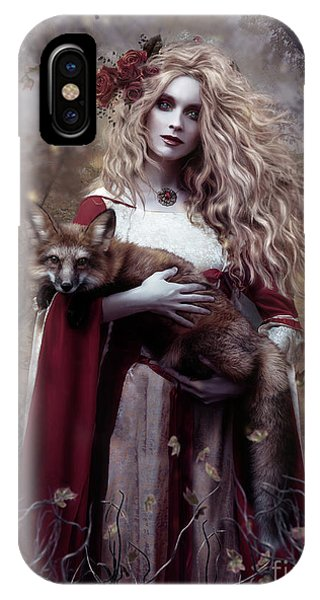Gothic iPhone Case - Lady And The Fox by Shanina Conway