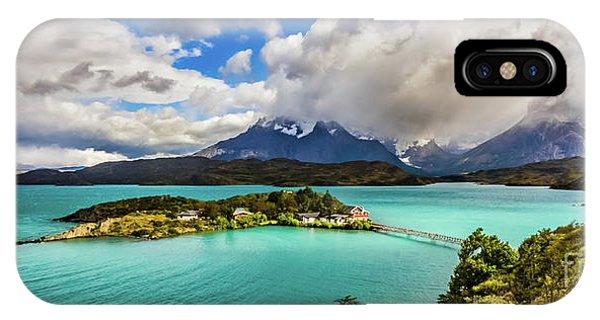 Lago Pehoe, Chile IPhone Case