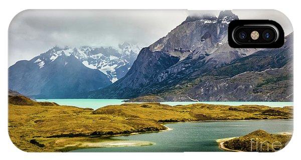 Laguna Larga, Lago Nordernskjoeld, Cuernos Del Paine, Torres Del Paine, Chile IPhone Case