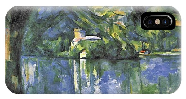 Avenue iPhone Case - Lake Annecy by Paul Cezanne
