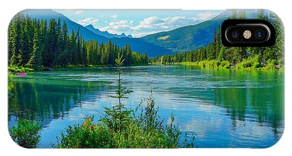 Lake At Banff Indian Trading Post IPhone Case