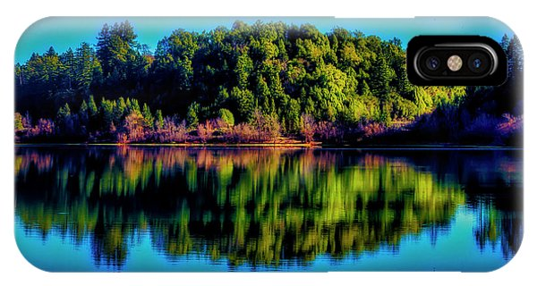 Treeline iPhone Case - Lake Double Reflection by Garry Gay