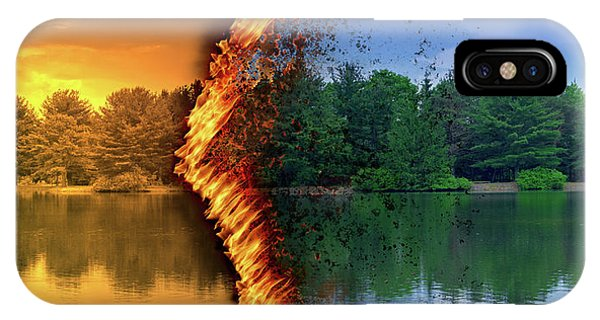 Lake Forest Fire IPhone Case