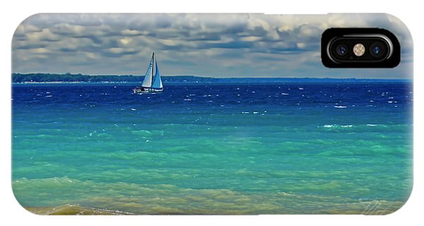 Lake Huron Sailboat IPhone Case