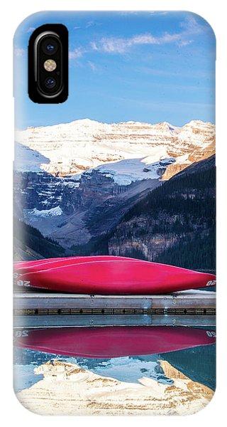 Lake Louise Canoes IPhone Case