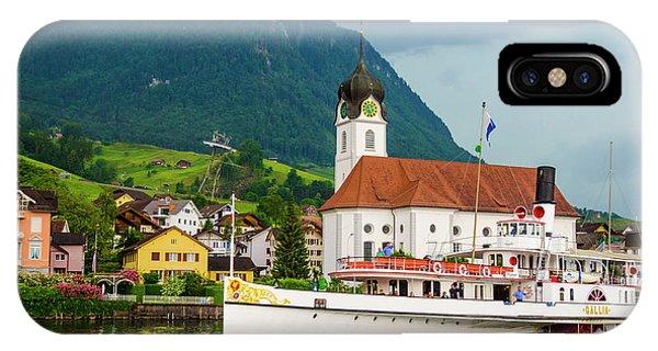 Lake Lucerne Steamer IPhone Case