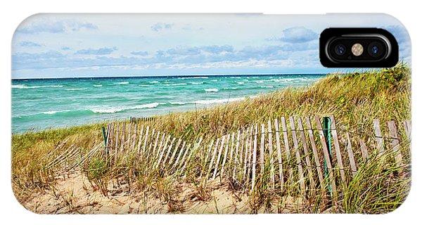 Lake Michigan Beachcombing IPhone Case