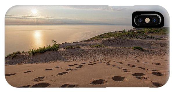 iPhone Case - Lake Michigan Overlook 10 by Heather Kenward