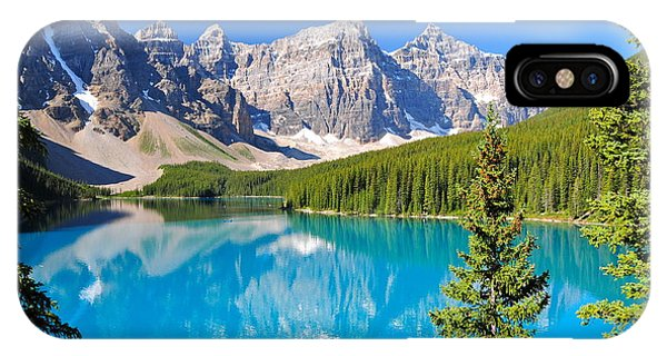 Boulder iPhone Case - Lake Moraine, Ab, Canada by Richard Cavalleri
