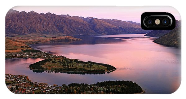 Dusk iPhone Case - Lake Wakaitipu At Queentowns At Dusk by Vichie81