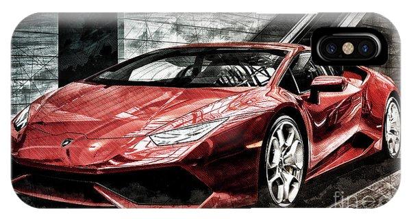 IPhone Case featuring the photograph Lamborghini Huracan 2 by Brad Allen Fine Art