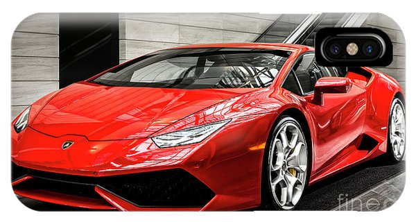 IPhone Case featuring the photograph Lamborghini Huracan by Brad Allen Fine Art