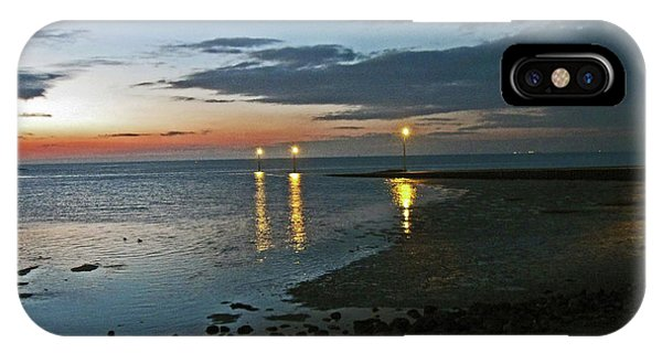Lancashire. Knott End. Sunset.. IPhone Case