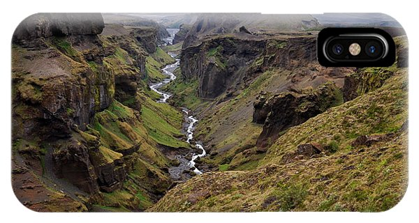 Hiking Path iPhone Case - Landscape Of Canyon And River In by Vaclav P3k