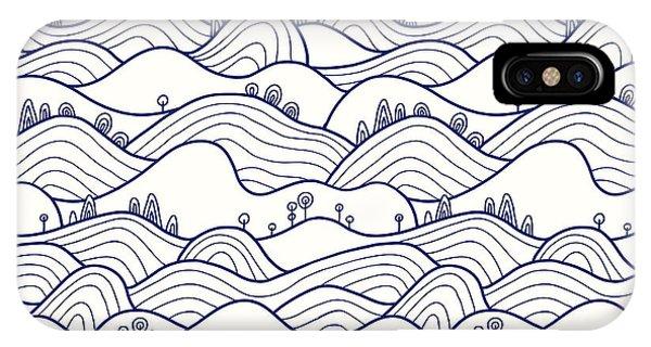 Trip iPhone Case - Landscape Pattern. Vector Seamless by Likemuzzy