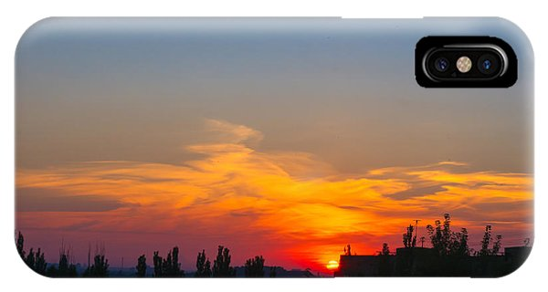 Cloudscape iPhone Case - Landscape With Dramatic Light - Orange by Wingedbull