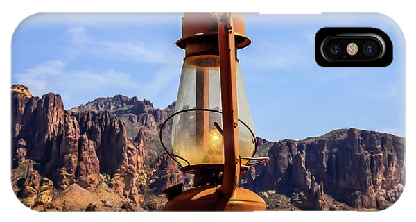 Lantern Over Superstitions IPhone Case