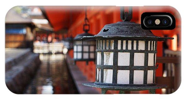 Asia iPhone Case - Lanterns In Itsukushima Shrine by Iwashi Spirit