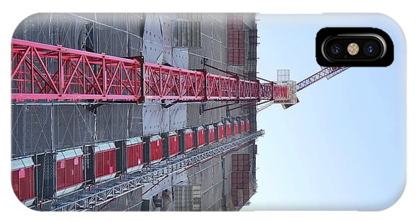 IPhone Case featuring the photograph Large Scale Construction Site With Crane by Yali Shi