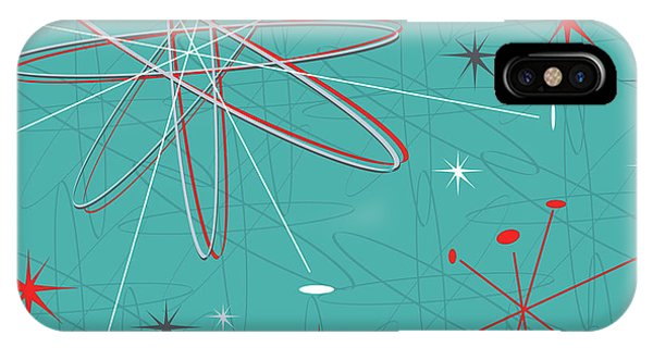 Atomic iPhone Case - Large Vector Illustration, Reminiscent by April Turner