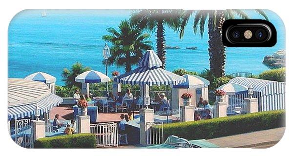 Laguna Beach iPhone Case - Las Brisas Patio by Frank Dalton