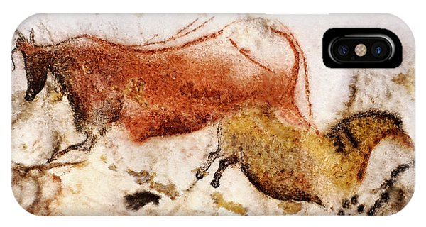 Lascaux Cow And Horse IPhone Case
