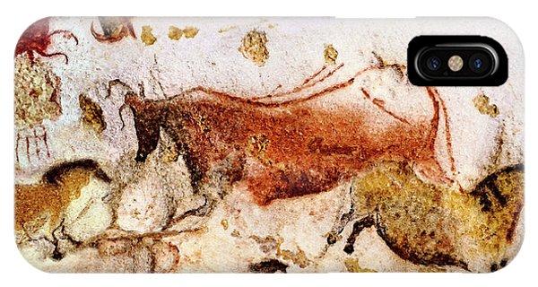 Lascaux Cow And Horses IPhone Case