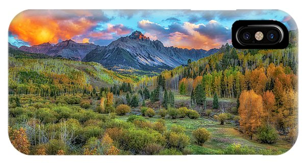 IPhone Case featuring the photograph Last Light Mount Sneffels by Bitter Buffalo Photography