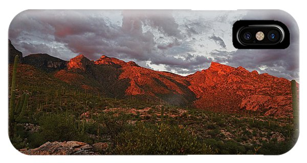 Last Light On Catalina Mountains IPhone Case
