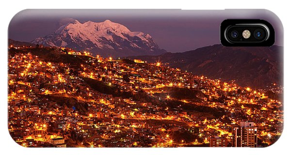 Last Light On Illimani (6438m/21,122ft Phone Case by David Wall