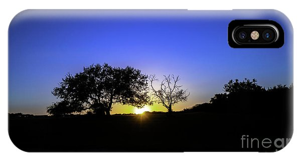 Last Light Texas Hill Country Paradise Canyon Sunset 8053a IPhone Case