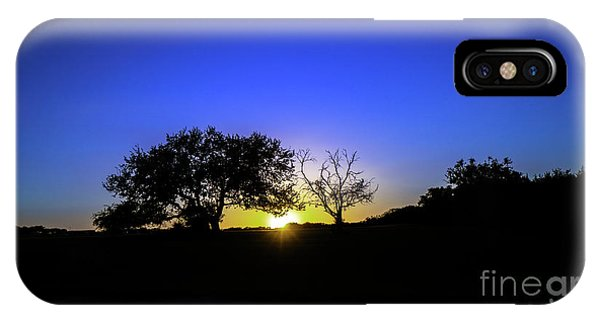 Last Light Texas Hill Country Paradise Canyon Sunset 8053a1 IPhone Case