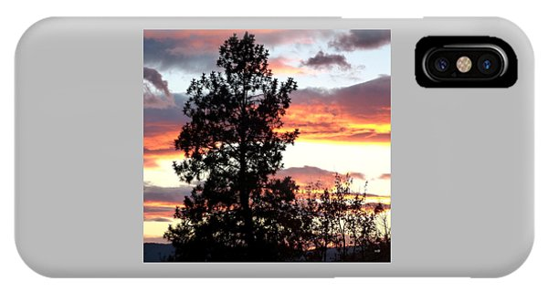Oyama iPhone Case - Late October Silhouettes by Will Borden