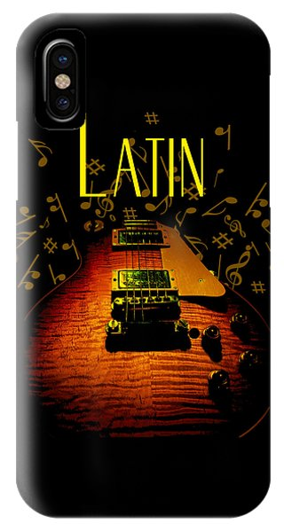 Latin Guitar Music Notes IPhone Case