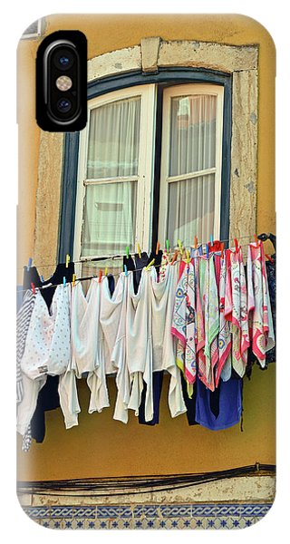 iPhone Case - Laundry Day In Lisbon by Kathy Yates