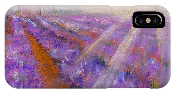 Lavender iPhone Case - Lavender Fields - Abstract Landscape by Elena Sysoeva