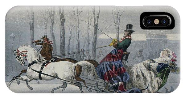 Sled Dog iPhone Case - Le Traineau by Francois Claudius Compte-Calix