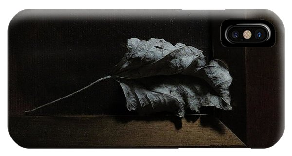 IPhone Case featuring the photograph Leaf And Frame by Attila Meszlenyi