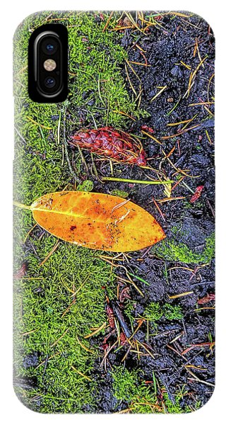 IPhone Case featuring the photograph Leaf And Mossy by Jon Burch Photography