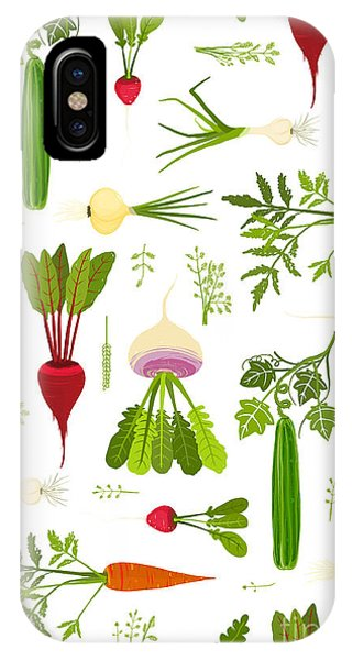 Ingredient iPhone Case - Leafy Vegetables And Greens Seamless by Popmarleo