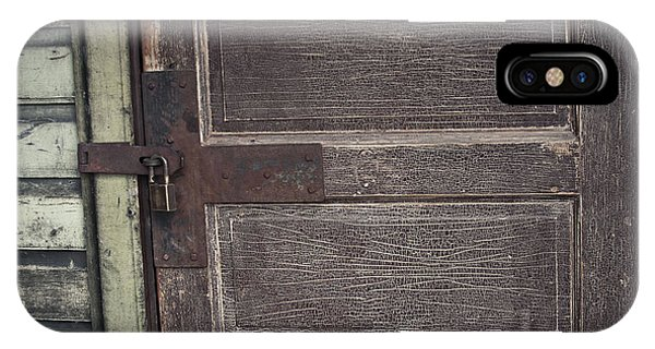 Leather Door IPhone Case